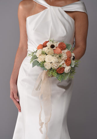 The Olivia Sola Wood Bridal Bouquet Purchase - Bridalbouquets.com