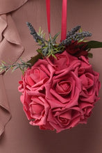 Load image into Gallery viewer, Pomander Ball Pink Roses Rental - Bridalbouquets.com