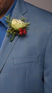 Hannah Boutonniere Rental The price to rent is $5 Pay $2.50 today to reserve - Bridalbouquets.com
