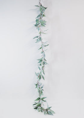 Flocked Seeded Eucalyptus Garland Rental - Bridalbouquets.com