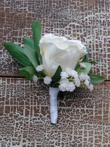 Peony Boutonniere Rental - Bridalbouquets.com