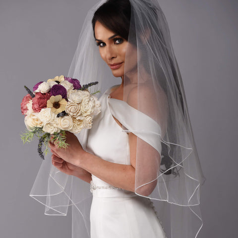 The Stella Rose Sola Wood Bridal Bouquet Purchase - Bridalbouquets.com