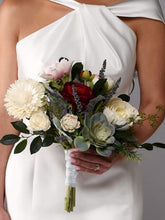 Load image into Gallery viewer, The Kennedy Wood Flower Bridal Bouquet Purchase - Bridalbouquets.com