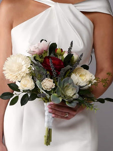 The Kennedy Wood Flower Bridal Bouquet Purchase - Bridalbouquets.com