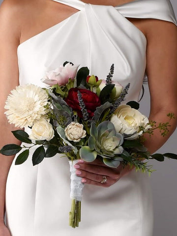 Image of The Kennedy Sola Wood Bridal Bouquet Purchase - Bridalbouquets.com