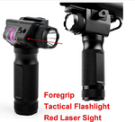2 IN 1 Red Laser Sight Foregrip Laser Pointer & Flashlight