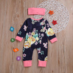 Baby Girls' Floral Long Sleeve Romper - davidissimo