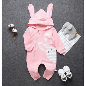 Baby Girls' Honey Bunny Long Sleeve Overall - davidissimo