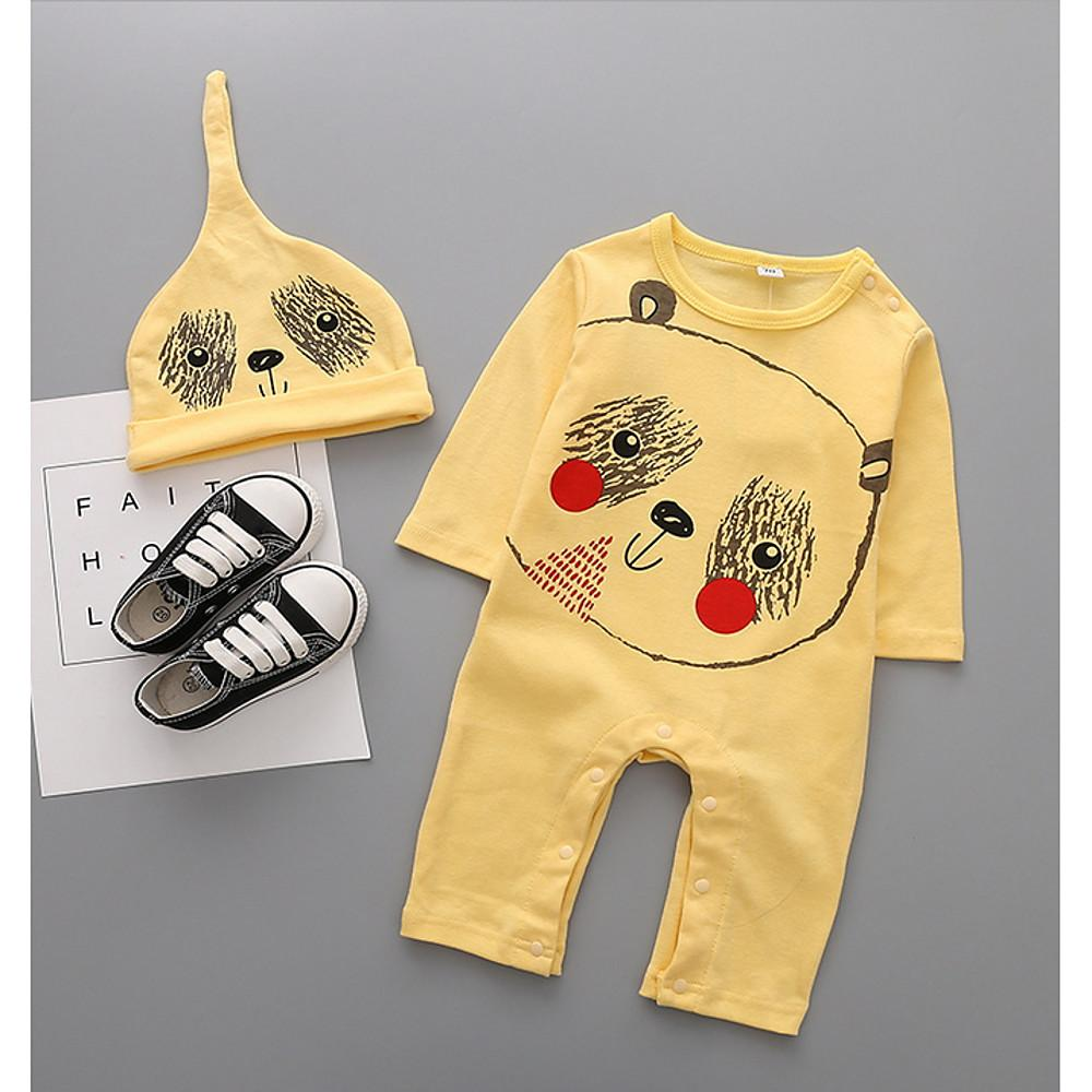 Baby Boys' Street chic Print Long Sleeve Cotton Overall & Jumpsuit Beige / Toddler - davidissimo