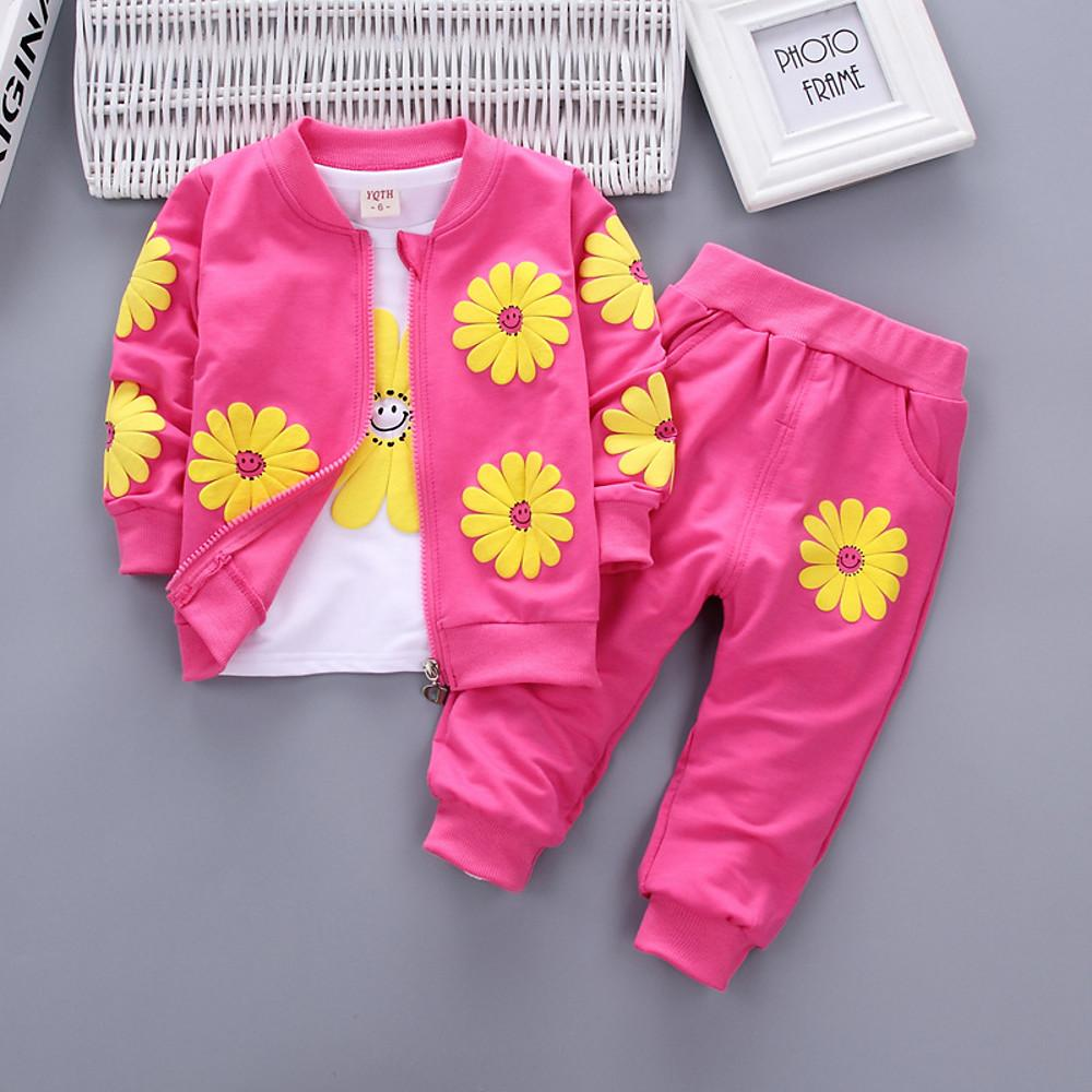 Girls' Sun Flower Bliss Long Sleeve Clothing Set - davidissimo