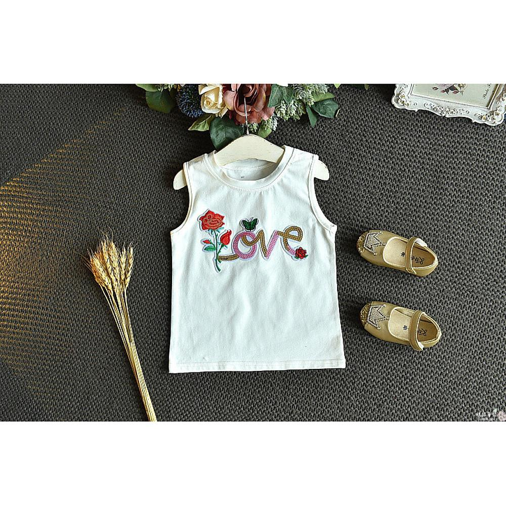 Girls' Love Rose Sleeveless Clothing Set - davidissimo
