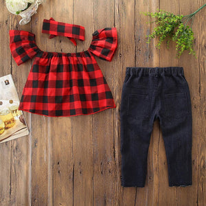 Girls' Going Out Short Sleeve Clothing Set - davidissimo