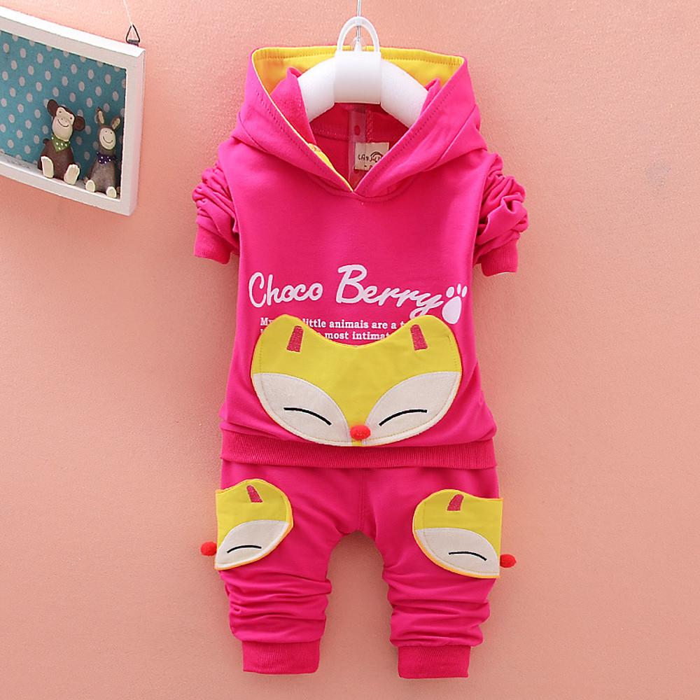 Girls' Choco Berry Print Long Sleeve Clothing Set - davidissimo