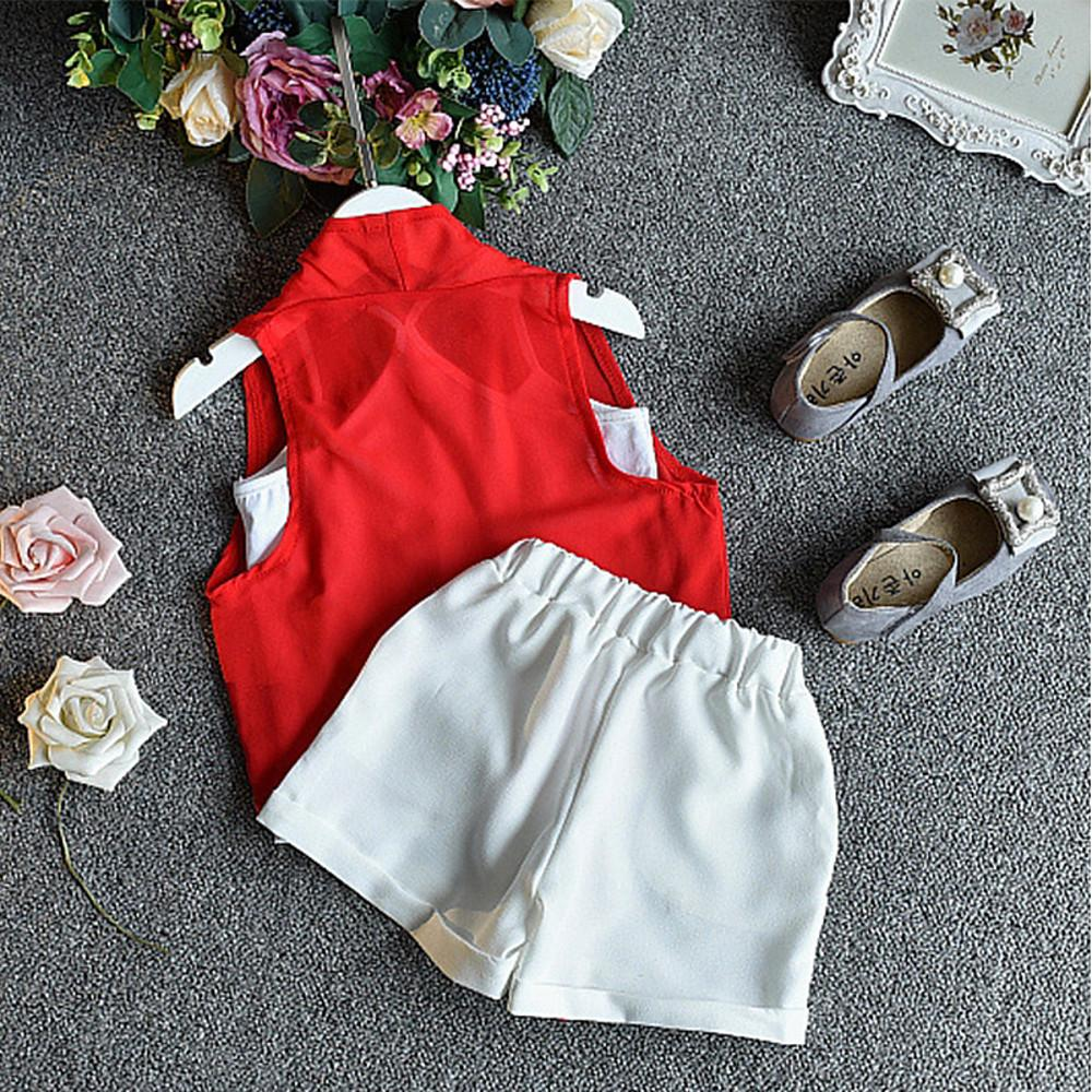 Girls' Casual Sleeveless Cotton Clothing Set - davidissimo