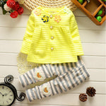 Girls' Flower Heart Long Sleeve Clothing Set - davidissimo