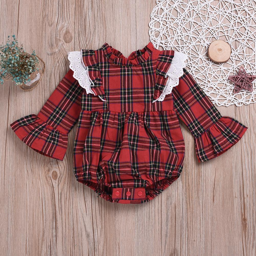 Baby Girls' Vintage Style Long Sleeve Bodysuit - davidissimo