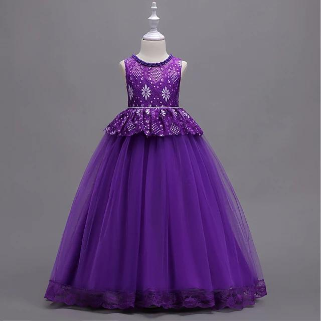 Vintage Style Sleeveless Dress Purple - davidissimo