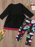 Girls' Unicorn Bliss Long Sleeve Clothing Set - davidissimo