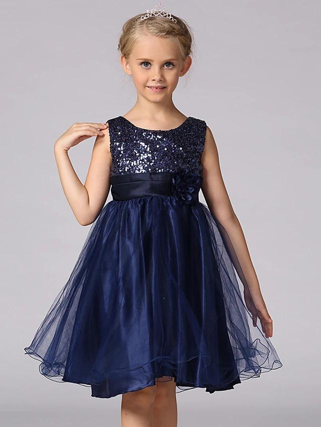 Sweet Princess Sequins Layered Sleeveless Dress - davidissimo