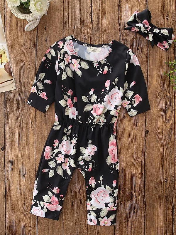 Baby Girls' Floral Long Sleeve Bodysuit