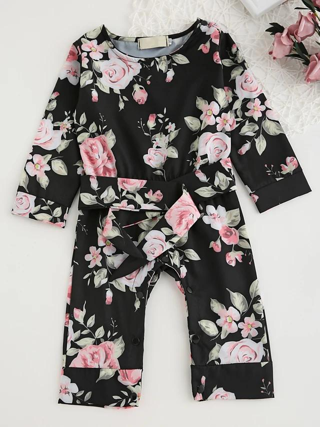 Baby Girls' Floral Long Sleeve Bodysuit - davidissimo
