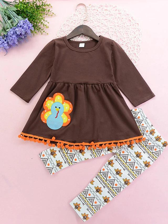 Girls' Blue Birdie Long Sleeve Clothing Set - davidissimo