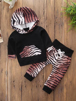 Girls' Tiger Heart Long Sleeve Clothing Set - davidissimo