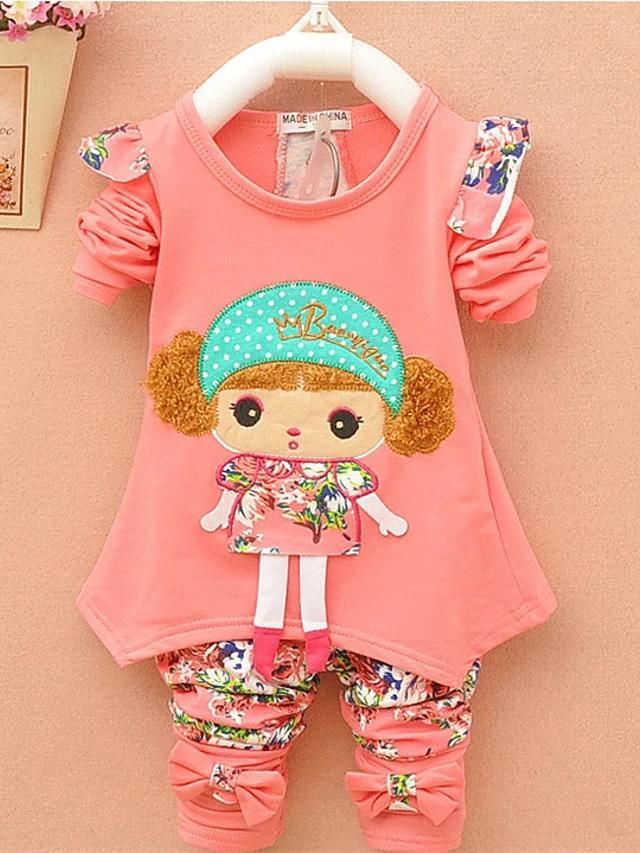 Girls' Happy Cutie Pie Long Sleeve Clothing Set