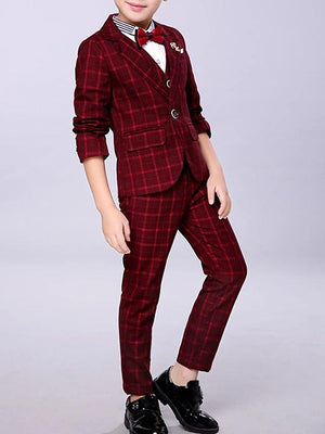 Basic Plaid Long Sleeve Cotton Clothing Set - davidissimo