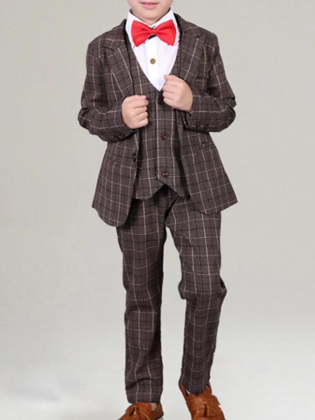 Elegant Plaid Long Sleeve Clothing Set - davidissimo