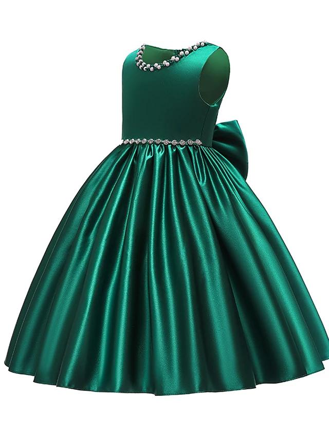 Vintage Sweet Sleeveless Knee-length Dress Green - davidissimo