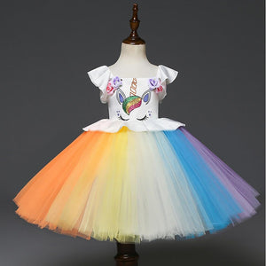 Unicorn Rainbow Sleeveless Dress - davidissimo