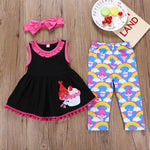 "Girls' ""Cupcake Troll"" Sleeveless Clothing Set - davidissimo"