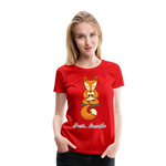 Meditation Fox Premium T-Shirt - red