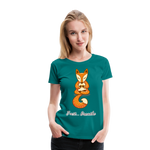 Meditation Fox Premium T-Shirt - teal
