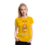 Meditation Fox Premium T-Shirt - sun yellow