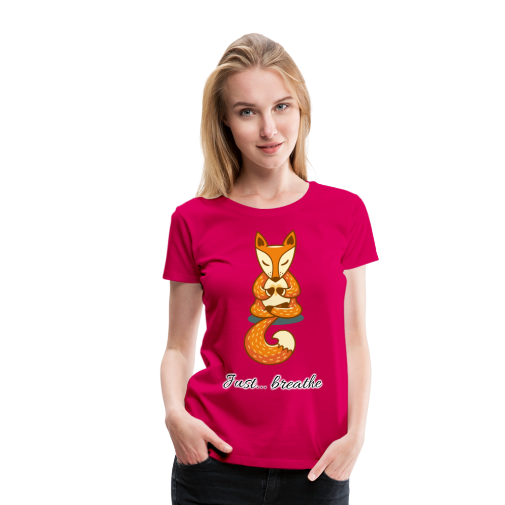 Meditation Fox Premium T-Shirt - dark pink