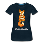 Meditation Fox Premium T-Shirt - deep navy
