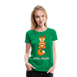 Meditation Fox Premium T-Shirt - kelly green