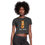 Meditation Fox Cropped T-Shirt - deep heather