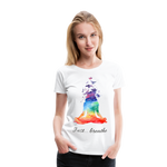Meditation Girl Premium T-Shirt - white