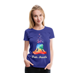 Meditation Girl Premium T-Shirt - royal blue