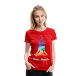 Meditation Girl Premium T-Shirt - red