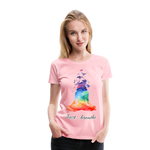 Meditation Girl Premium T-Shirt - pink