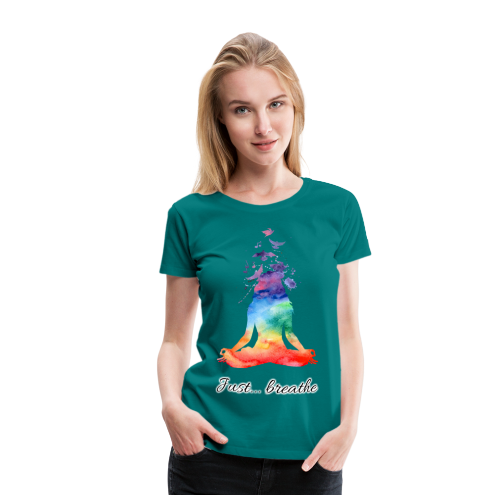 Meditation Girl Premium T-Shirt - teal