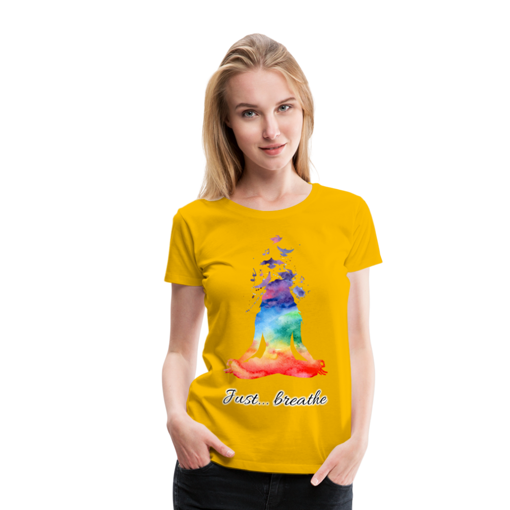 Meditation Girl Premium T-Shirt - sun yellow