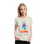 Meditation Girl Premium T-Shirt - heather oatmeal
