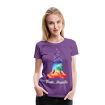Meditation Girl Premium T-Shirt - purple