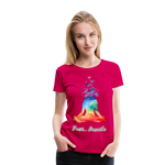 Meditation Girl Premium T-Shirt - dark pink