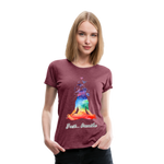 Meditation Girl Premium T-Shirt - heather burgundy